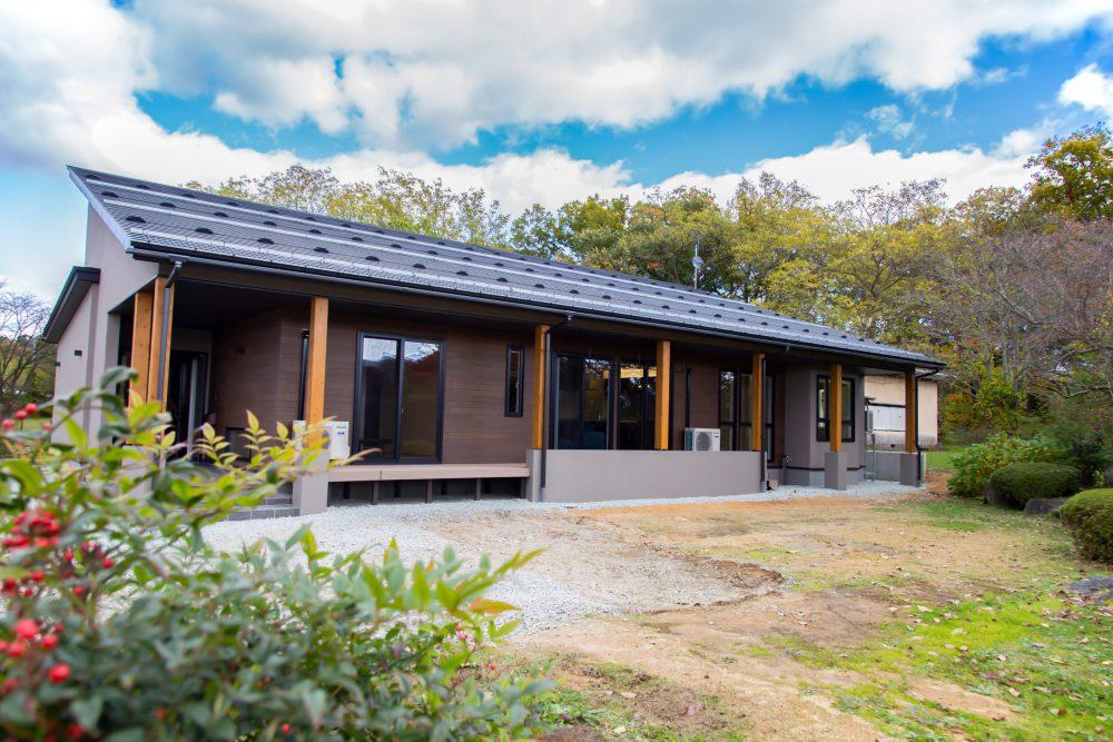 【山形県長井市】新築一戸建て実例写真 平屋 外観