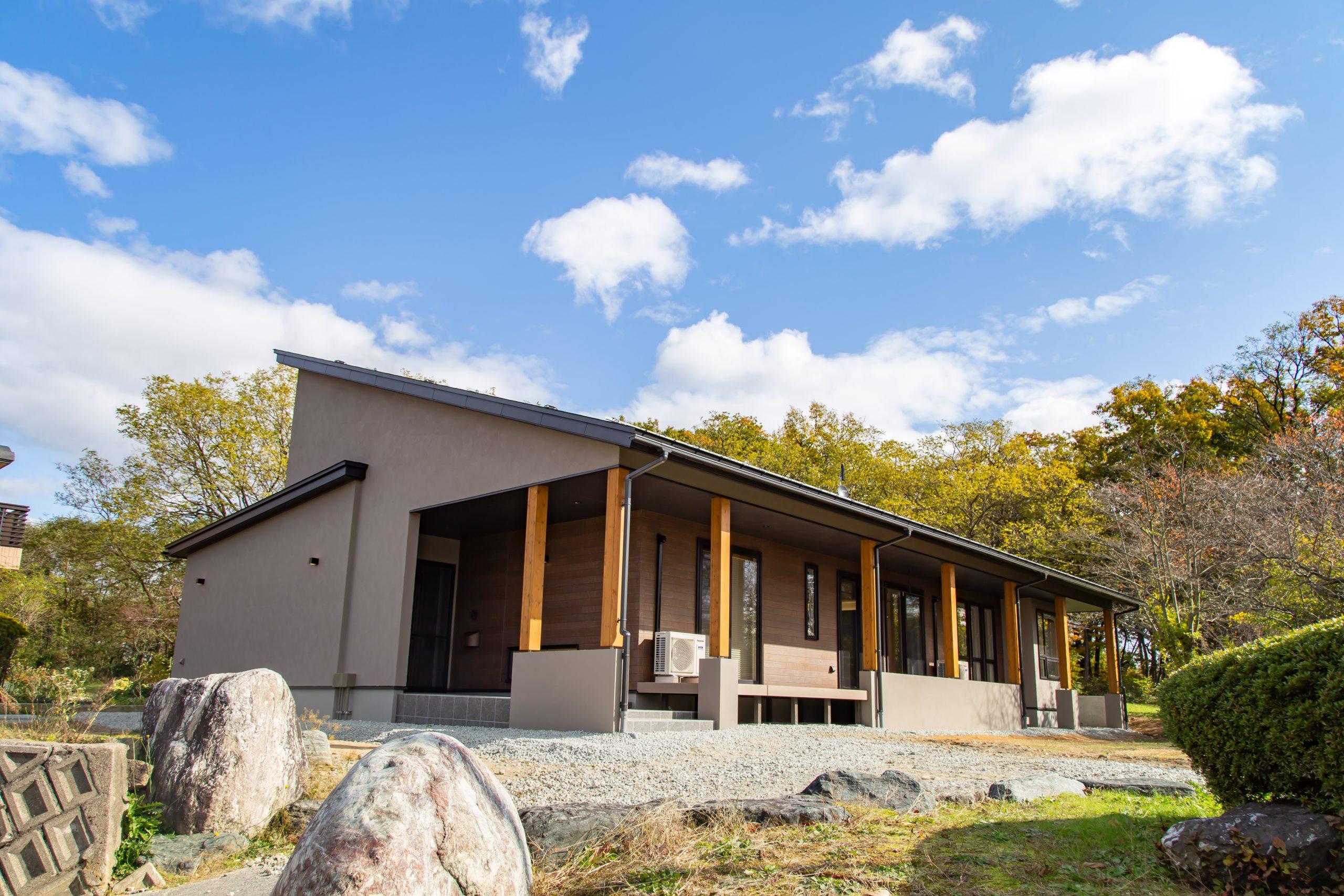 【山形県長井市】新築一戸建て実例写真 おしゃれな外観
